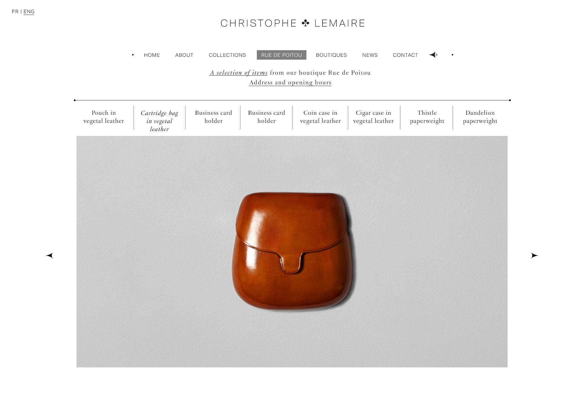 Christophe Lemaire – website